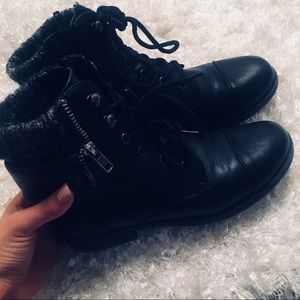 Mudd Black Leather Ankle Boots